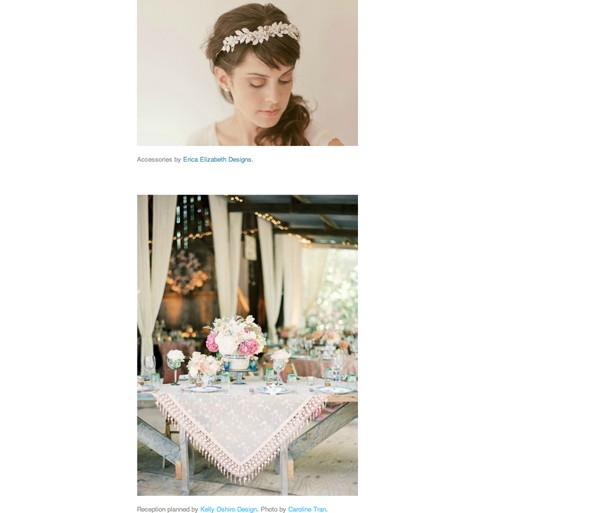 Glamour Wedding Feature