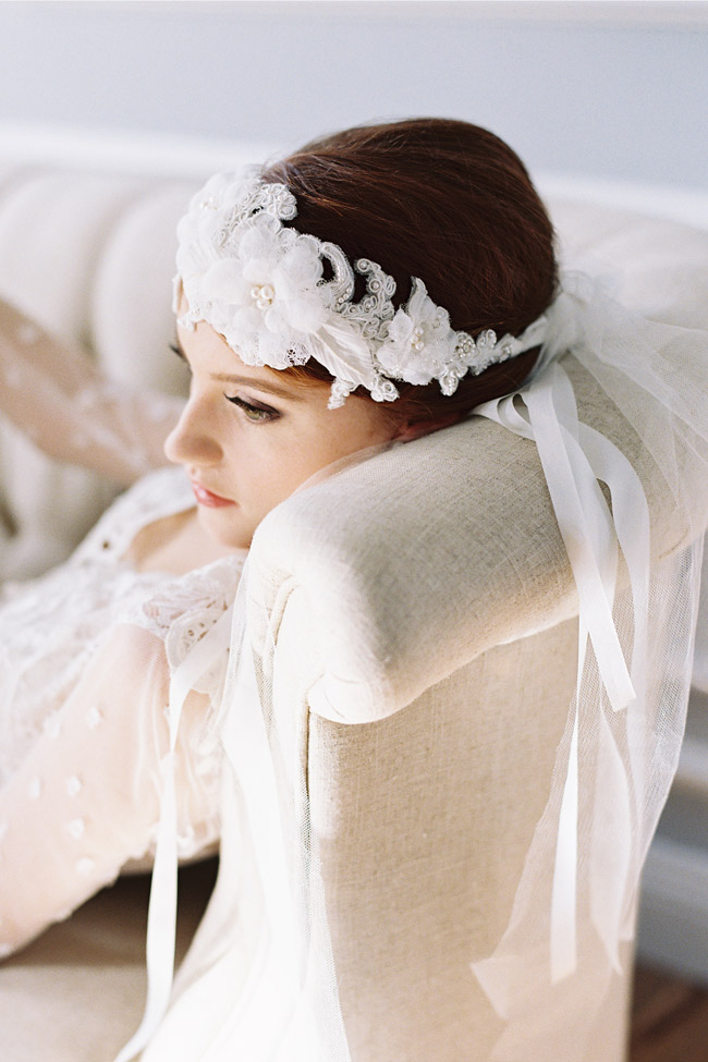 VERSAILLES FRENCH LACE BRIDAL CAP