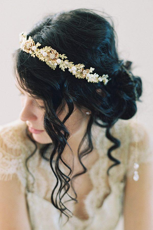 AUTUMN OAK LEAF WEDDING CROWN
