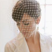 birdcage veil, retro cage veil, wedding veil, blusher veil, accessory