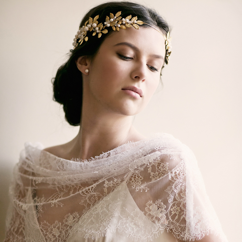 Grecian Crown Goddess Crown Roman Crown Laurel Leaf Diadem Headpiece