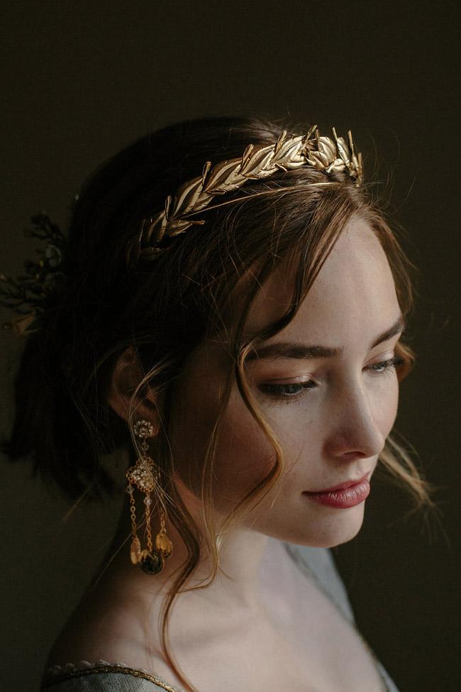 Laurel Leaf Crown Wedding Headpiece Diadem Tiara
