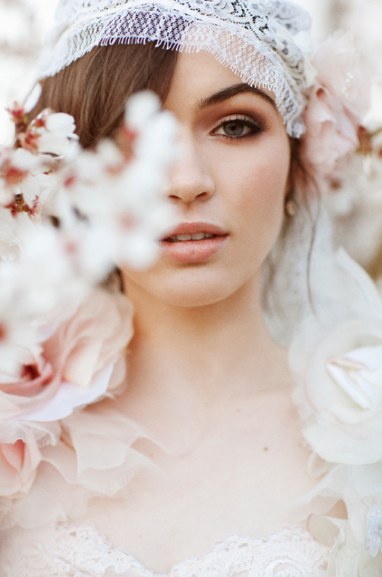 GIGI BLUSH JULIET BRIDAL CAP