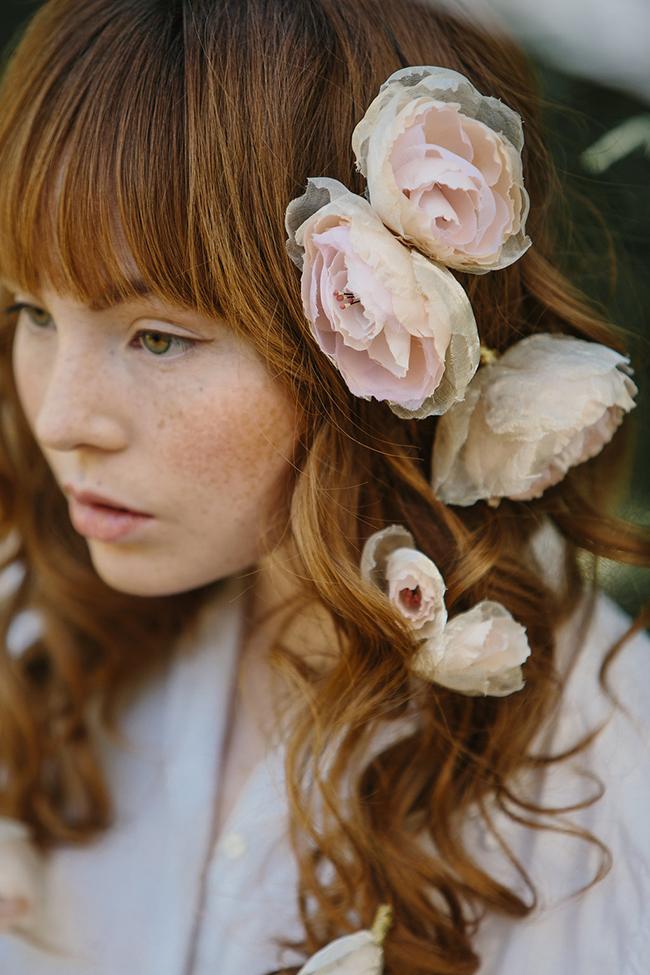 Silk Flower Hairpin ELLA Bridal Hairpin Wedding Hair Accessory