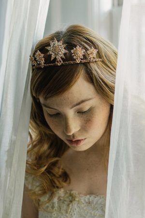 Celestia starburst bridal tiara