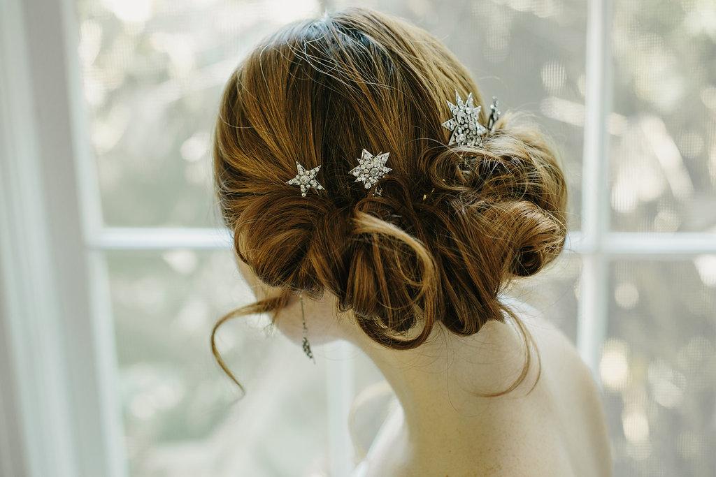 Star Bridal Hair Pins Hair Accessory Crystal Wedding