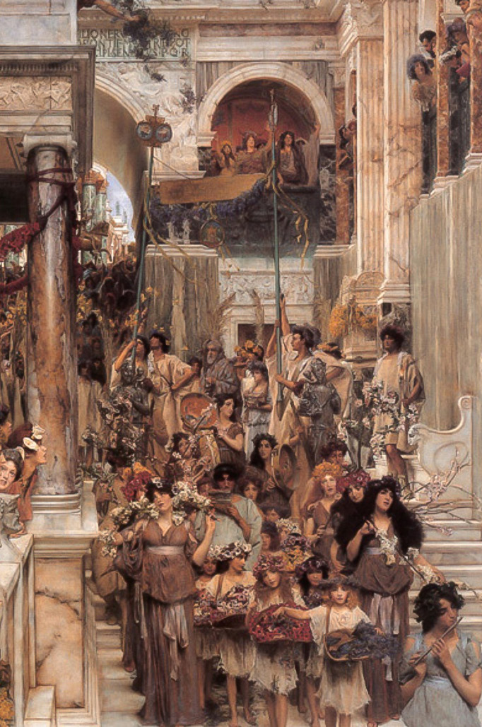 Lawrence Alma-Tadema's beloved Romanticism painting Spring