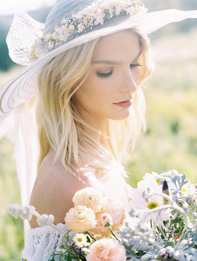 1970s horsehair bridal hat