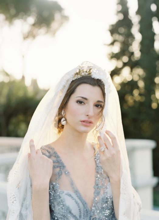 bridal veil & crown