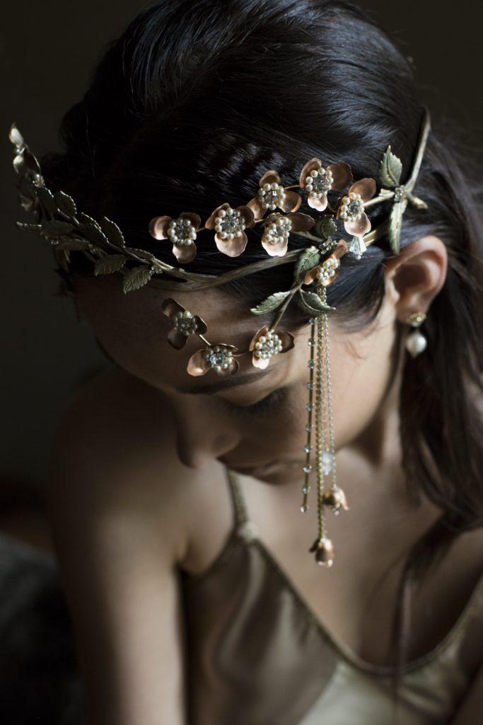 HARMONIA FLORAL BRANCH WEDDING HEADDRESS