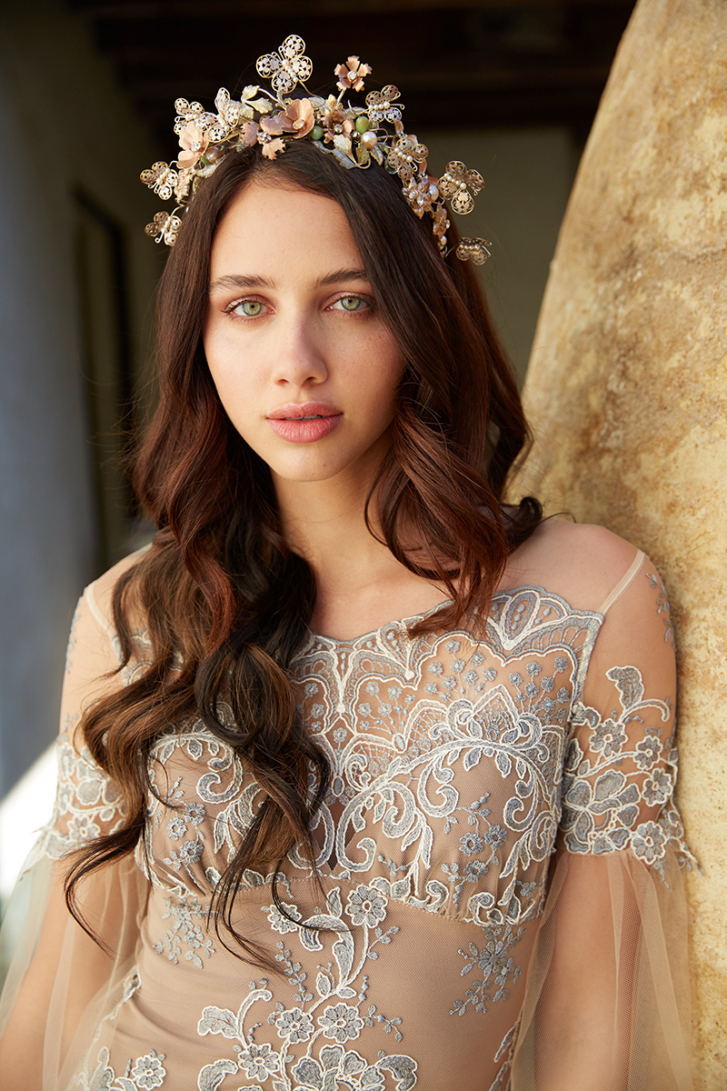 erica elizabeth designs, green wedding shoes, claire pettibone, vagabond, headpieces