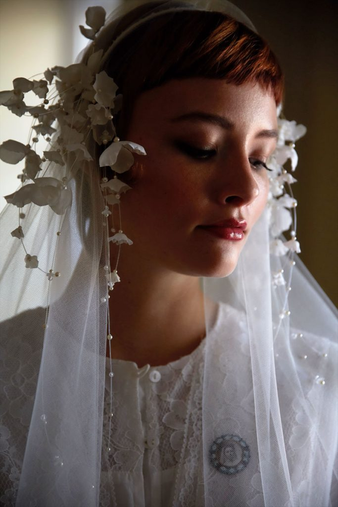 CLAUDETTE SILK FLOWER BRIDAL HEADBAND NO. 2306