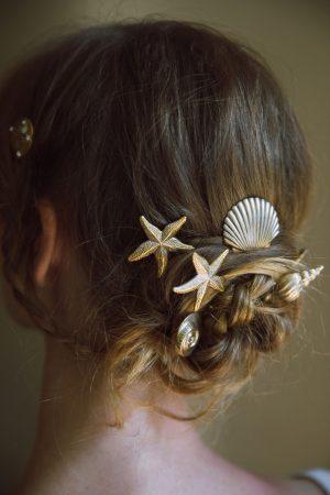 VENUS SEA SHELL BEACH WEDDING HAIR PINS